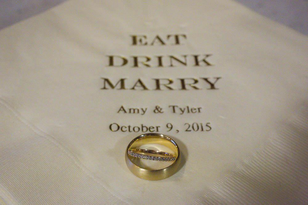 Details – Personalized Napkins – Gold – Wedding Bands – Offbeat Bride – St.Lawrence Market Wedding – Toronto Wedding Photographer