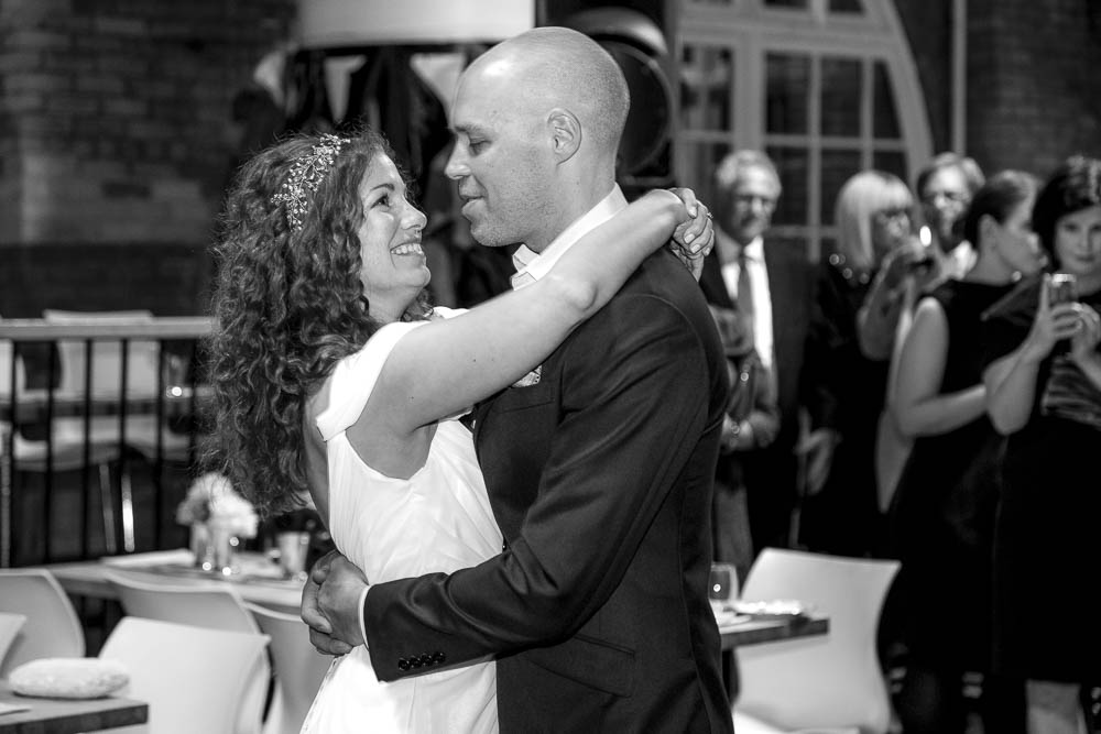 First Dance – Bride and Groom – Jewish Wedding – Offbeat Bride – St.Lawrence Market Wedding – Toronto Wedding Photographer