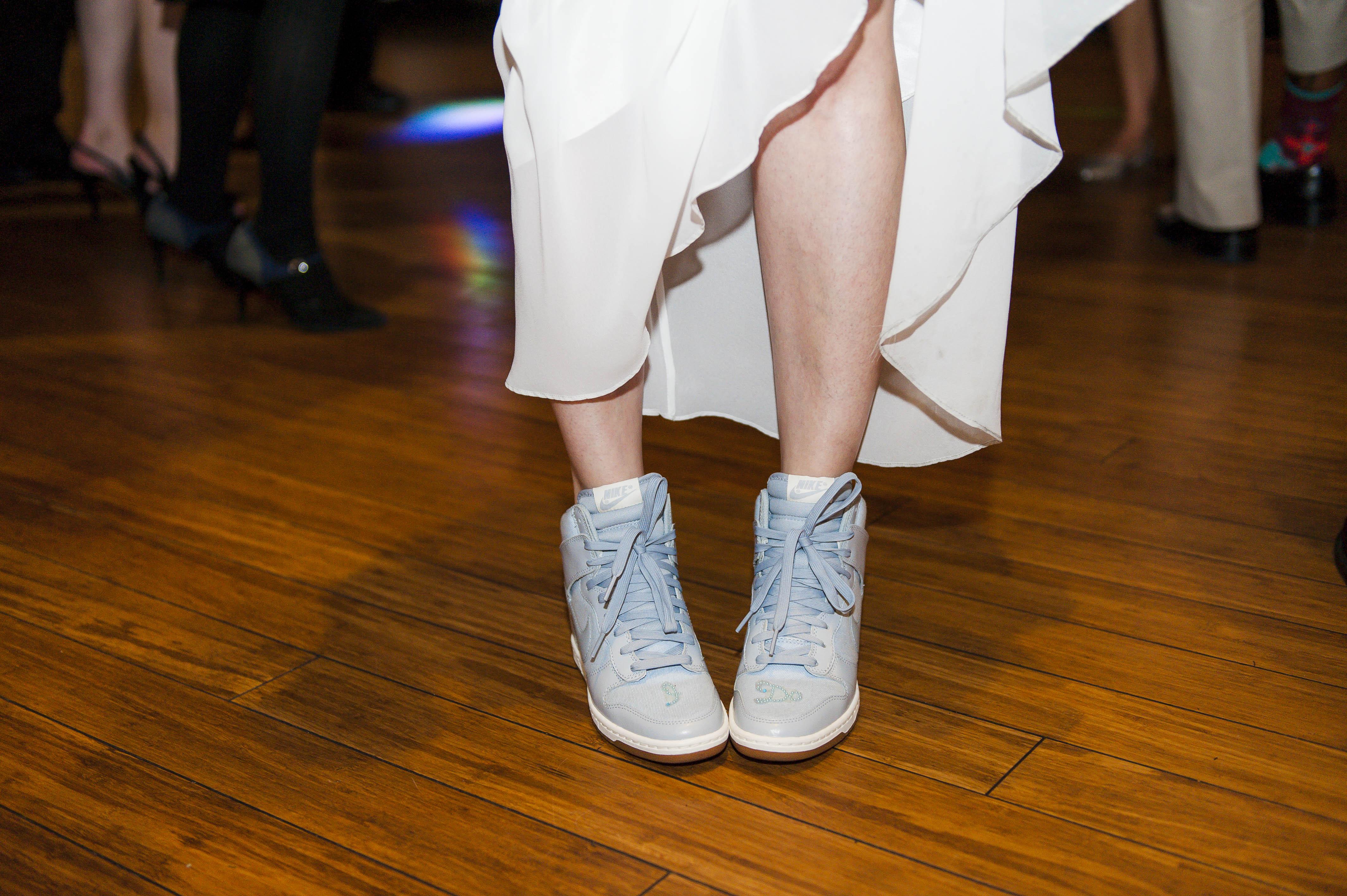 Details – Comfortable Shoes – Running Shoes – Nike – Fall Wedding – Reception  – Horah – Jewish Wedding – Offbeat Bride – St.Lawrence Market Wedding – Toronto Wedding Photographer