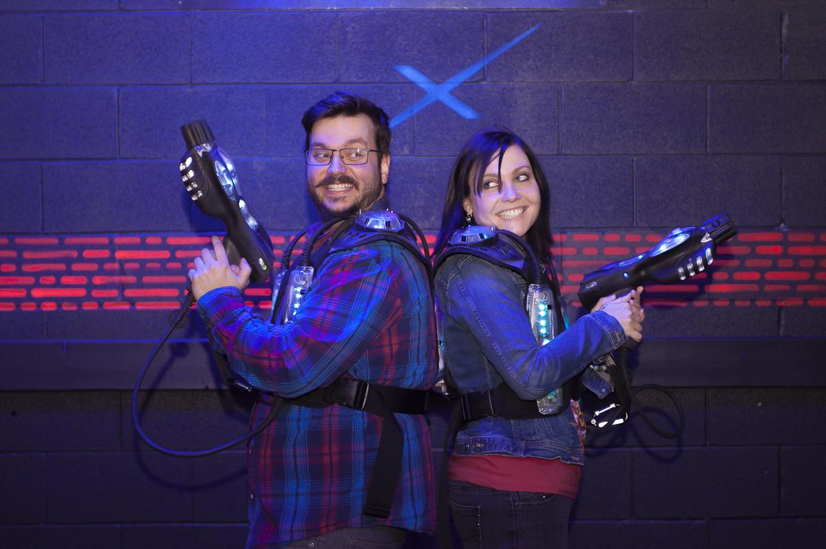 Laser Tag / Arcade Engagement Session – Toronto Wedding Photographer