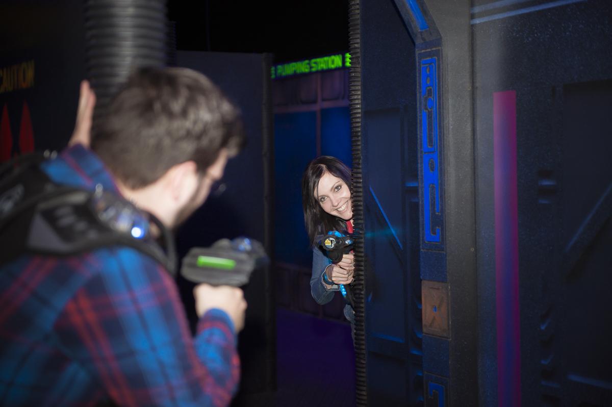 Arcade Laser Tag Engagement Session – Toronto Wedding Photographer
