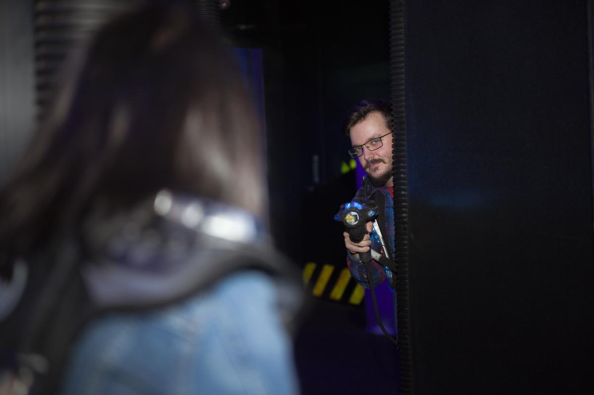 Laser Tag Engagement Session – Toronto Wedding Photographer